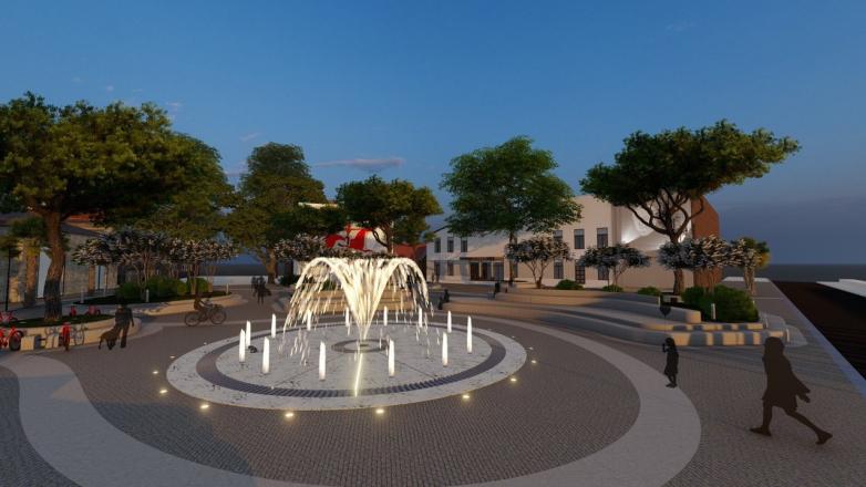 Проект памятника и благоустройства площади имени Сергея Багапша от группы «Ҳара ҳақалақь»