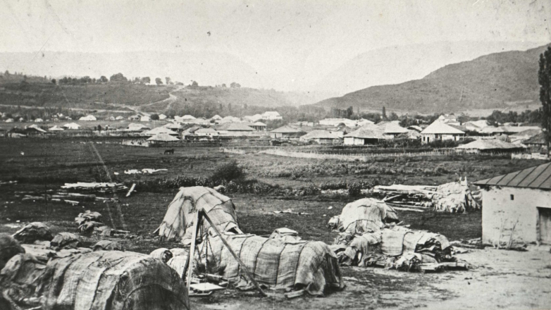 Sukhum-Kale after the destruction as a result of the Russo-Turkish war, 1877