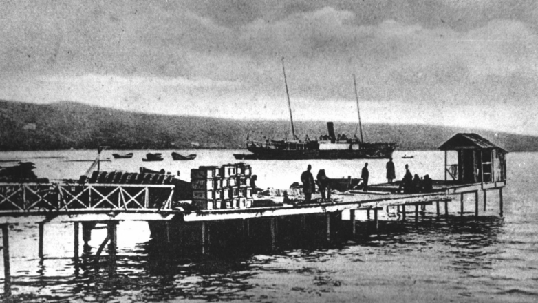 Commercial port, Sukhum, early 20th century