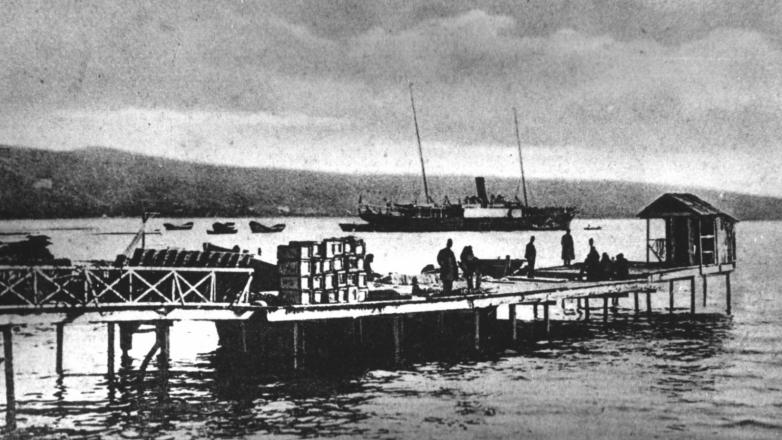 Торговый порт, Сухум начала ХХ века