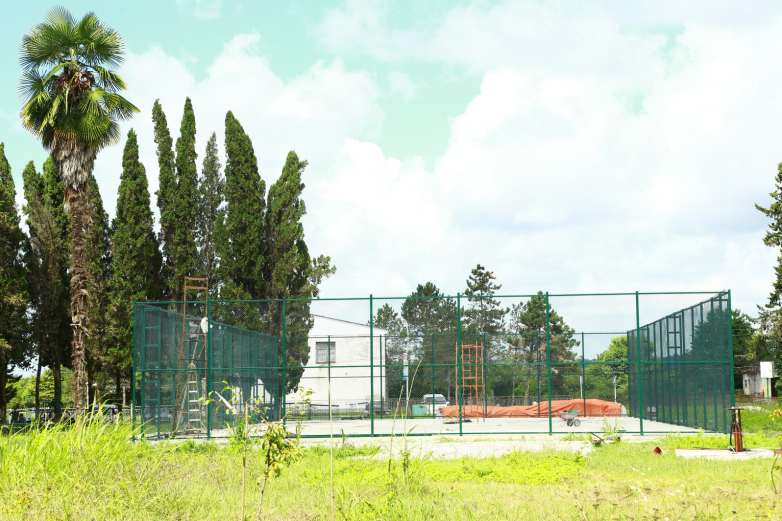 Activists and local residents of Kutol village to build a mini-football pitch