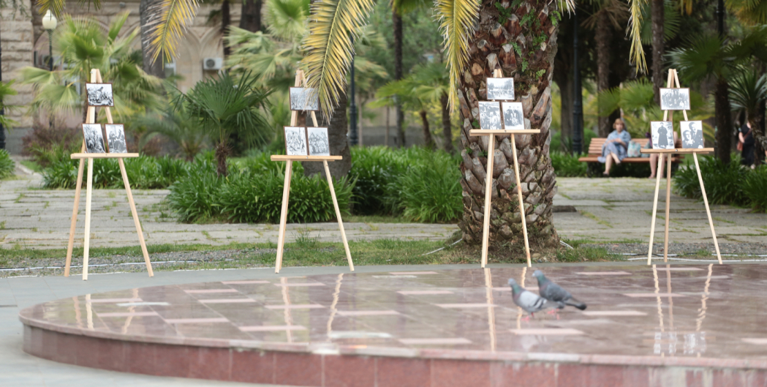 A photo exhibition was held at the memorial to the victims of the Caucasian War during the day. The exposition consisted of archival photographs and drawings made by victims of forced resettlement, various sketches of that time.