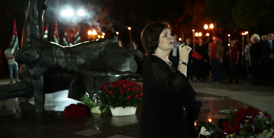 The famous Abkhazian singer, the soloist of the famous Abkhazian group