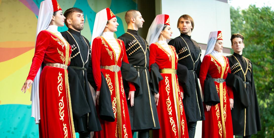 At the «Apsny» festival in the «Krasnaya Presnya» park, Abkhazian folk dances were presented