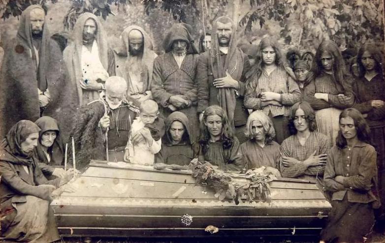 The funeral of Kapba Stepan, 1921.