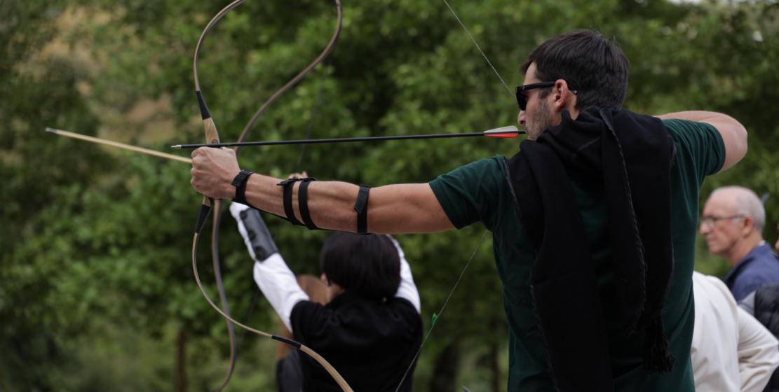 На фото: Михаил Кирия. Михаил начал заниматься стрельбой сравнительно недавно, но уже продемонстрировал неплохие результаты.