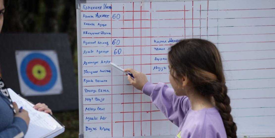 Турнирная таблица. Именно в нее записывали результаты всех этапов.