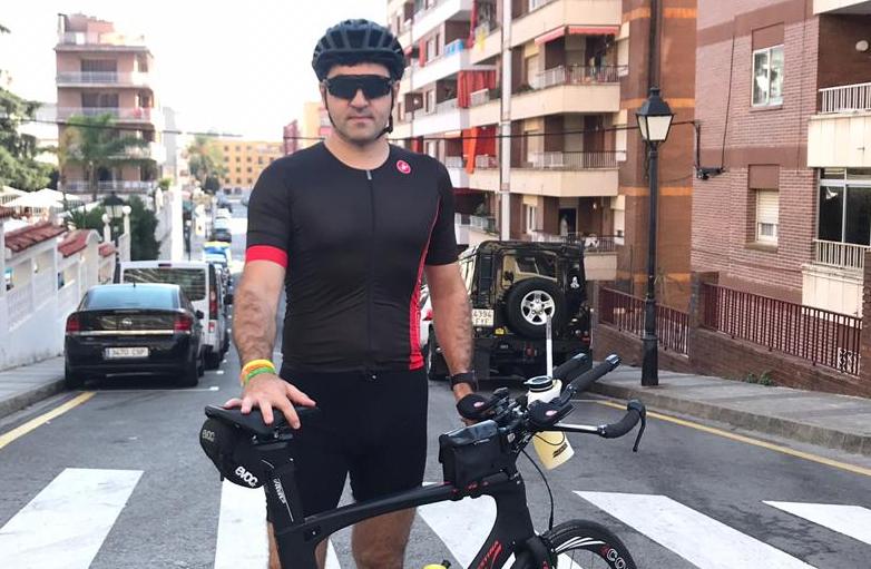 Борис Барциц на соревнованиях по триатлону IRONMAN в Барселоне