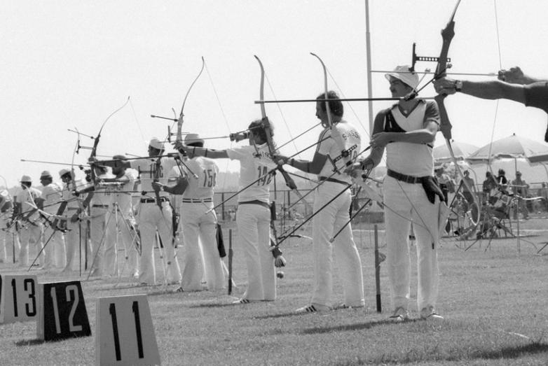 Соревнования по стрельбе из лука во время проведения XXII Олимпийских игр, Москва, 1980 год