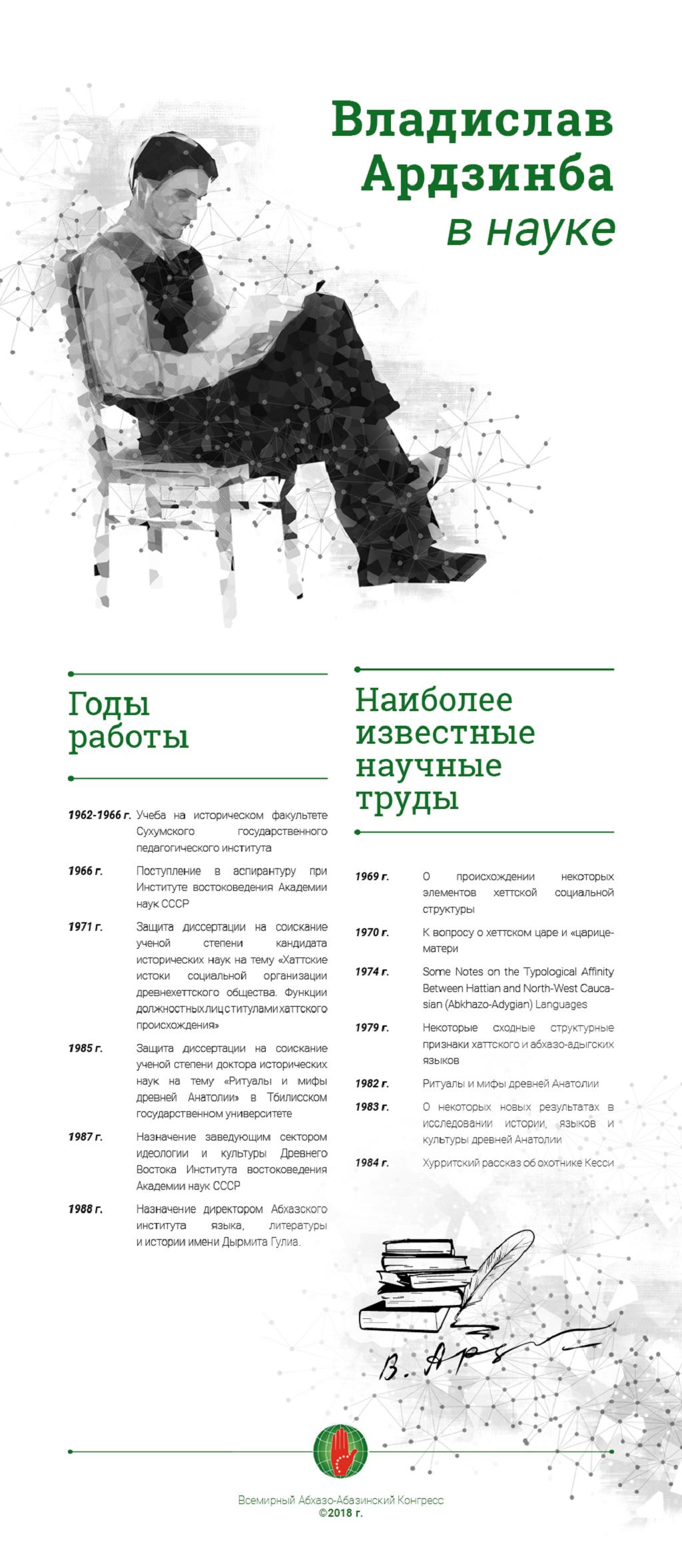Владислав Ардзинба в науке