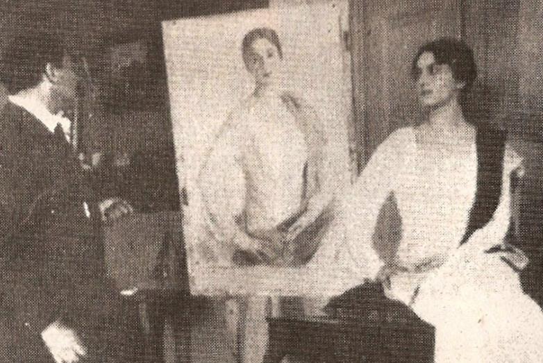 Мери Шервашидзе позирует Савелию Сорину, 1919 год