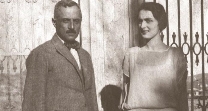 Княгиня Мери Шервашидзе-Эристави с супругом Георгием