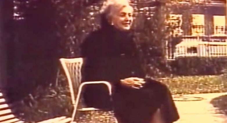 Княгиня Мери Эристова-Шервашидзе в преклонном возрасте