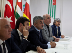 Meeting of the WAC delegation with the leadership of Kaffed