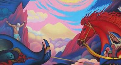 Иллюстрация к черкесскому эпосу «Нарты». Художник Мурат Дышек