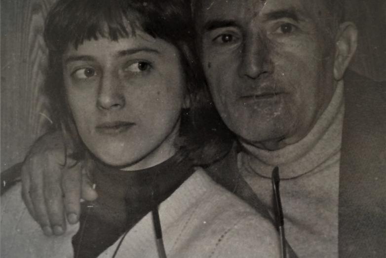 Шалва Денисович с дочерью Ардой