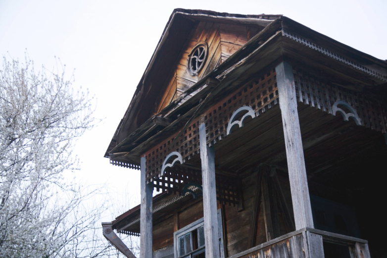 Facade of the house, the village of Ankhua