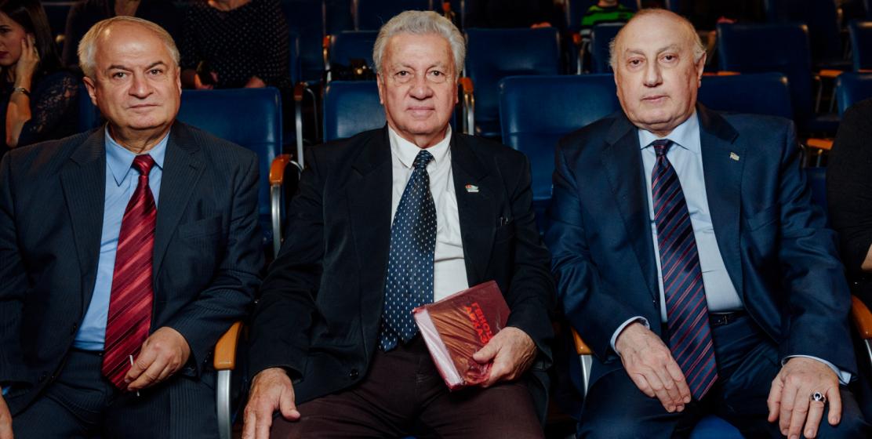 Виталий Лазария, Боча Аджинджал и Игорь Ахба на вечере абхазо-абазинской диаспоры в Санкт-Петербурге