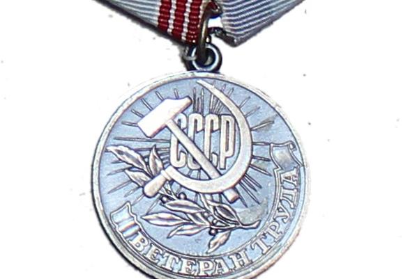 Медаль Зули Ерижевой «Ветеран Труда»