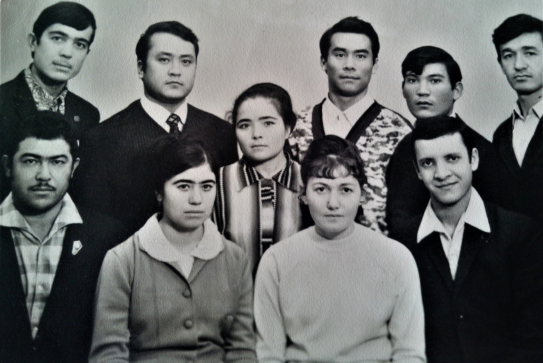 Rosa with fellow students of the Tashkent Medical Institute