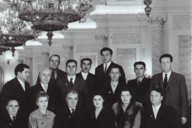 1960 год. Алейсей Хуранов среди участников Всесоюзного совещания работников здравоохранения