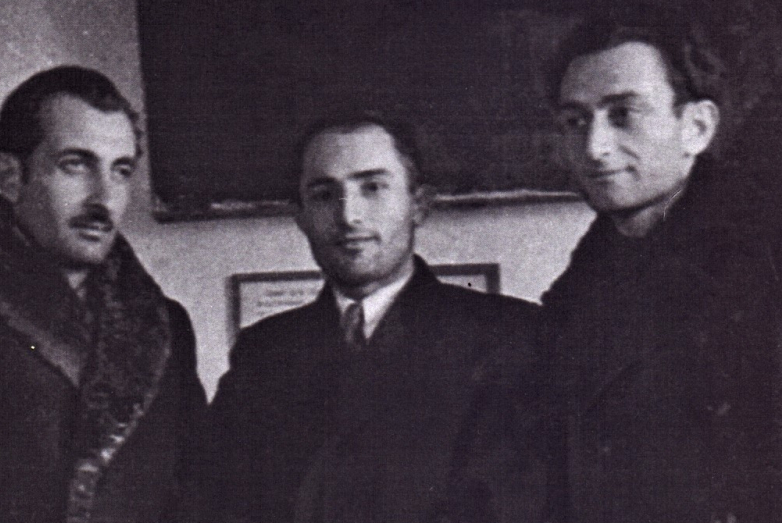 Баграт Шинкуба, Шалва Инал-Ипа, Георгий Дзидзария. Сухум, 1947 год
