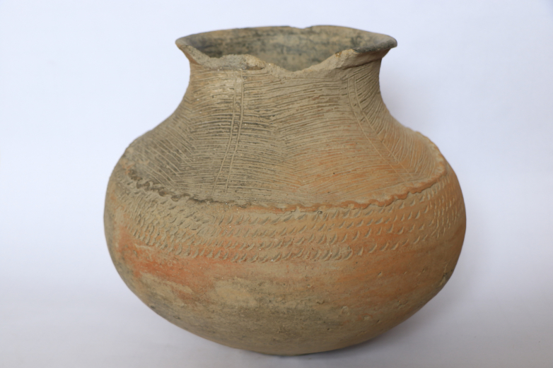 Thick ceramic vessel. Presumably 2000 years old. According to the scientists-archeologists of St. Petersburg. Found at the foot of the Adijuh tower, Abazinski District of the KChR
